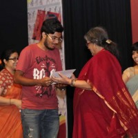 Our young volunteers received certificates of appreciation from Nabaneeta Dev Sen