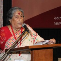 Nabaneeta Dev Sen, President, Soi, delivering her welcome speech
